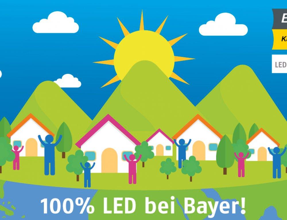 100% LED bei Bayer!