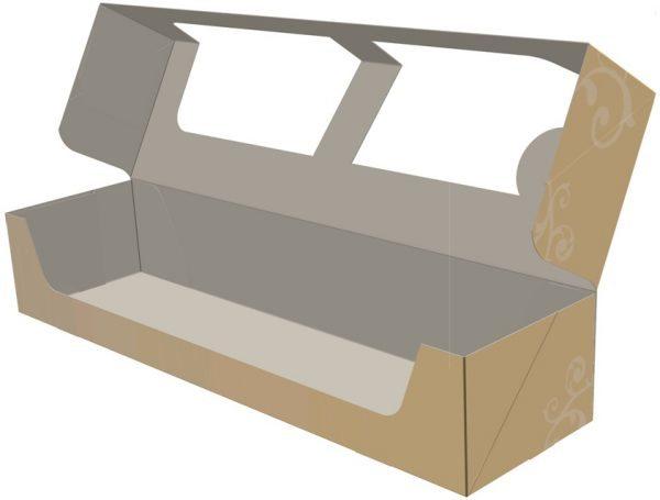 3D Model - Faltschachtel mit Fenster